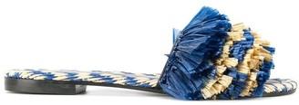 Avec Modération Fringed Slippers