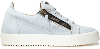 Giuseppe Zanotti Gail Zip-detailed Denim Sneakers