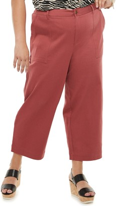 Sonoma Goods For Life Plus Size Now + Gen by Wide Leg Crop Pants
