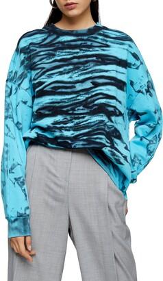 Topshop Tie Dye Sweatshirt