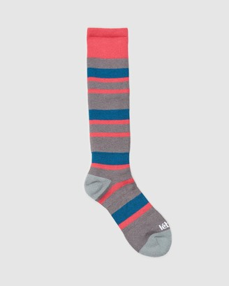 Le Bent - Women's Pink Crew Socks - Alpha Socks - Size One Size, 2-8 at The Iconic