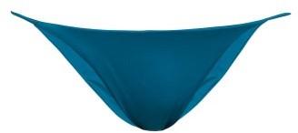 JADE SWIM Bare Minimum Thin Strap Bikini Briefs - Womens - Blue