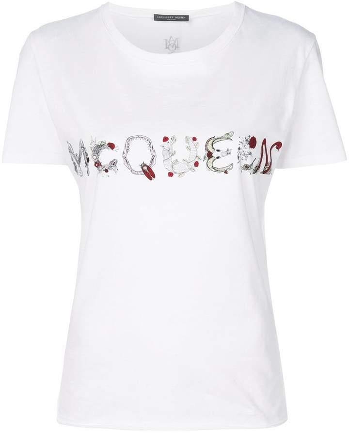 Alexander McQueen McQueen bug print T-shirt