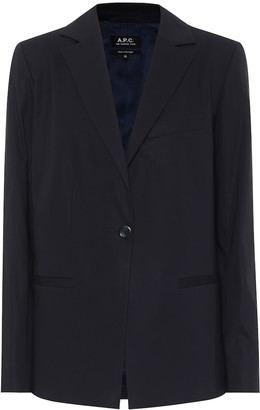 A.P.C. Savannah cotton-crepe blazer