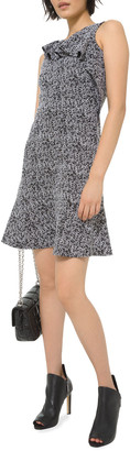 MICHAEL Michael Kors Sleeveless Jacquard Knit Flounce Dress