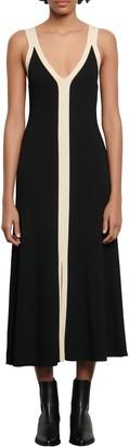 Sandro Naten Two-Tone Sleeveless Dress