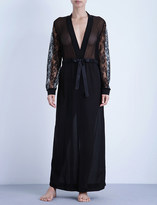 La Perla Shape-Allure long silk and lace robe