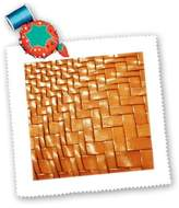 3dRose LLC qs_48192_5 Florene Designer Texture - Orange Textured Leather - Quilt Squares