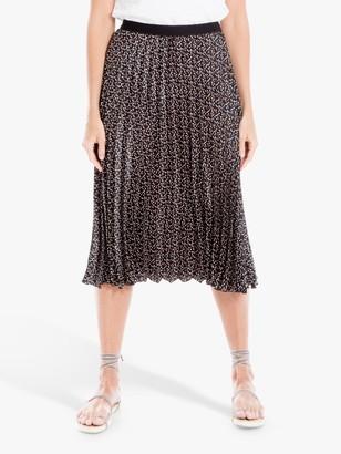Max Studio Spot Print Pleated Skirt, Multi
