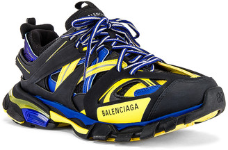 Balenciaga Track Sneaker in Black & Yellow & Blue | FWRD