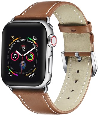 Posh Tech Cow Leather 38mm/40mm Apple Watch Band Series 1, 2, 3, 4, 5 - Brown