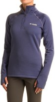 Columbia Titianium Northern Ground Fleece Shirt - Zip Neck, Long Sleeve (For Women)