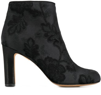 Chie Mihara Brocade Ankle Boots