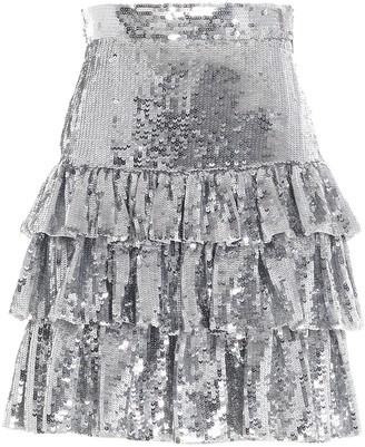 MSGM Sequin-Embellished Mini Skirt