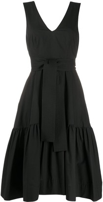 P.A.R.O.S.H. Flared Tie-Waist Dress