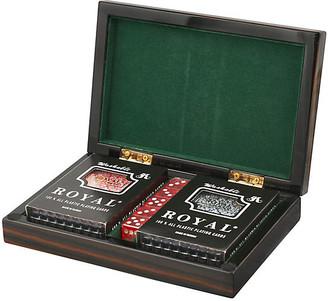 One Kings Lane Polished Card Set - Ebony - Brown/black/multi