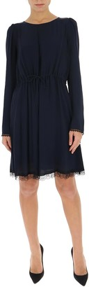 See by Chloe Round Neck Lace-Detailed Dress