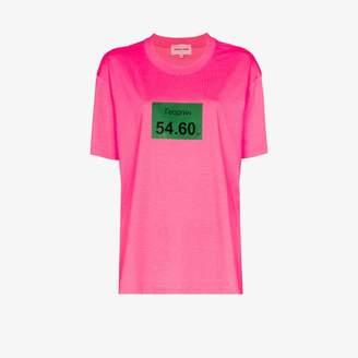 Natasha Zinko Womens Pink Georgin Print Cotton T-shirt