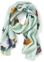 Banana Republic Painterly Floral Scarf