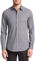 Emporio Armani Geometric Print Button-Down Shirt