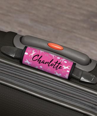Personalized Planet Girls' Luggage Tags - Pink Unicorn Personalized Luggage Handle Wrap