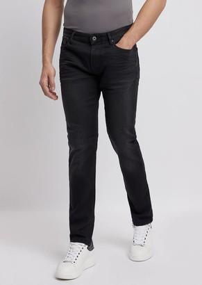 Emporio Armani Slim-Fit J06 Jeans In Stretch Cotton Denim