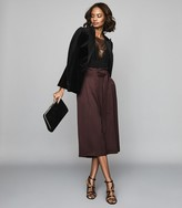 Reiss Ludlow - Belted Culottes in Burgundy