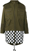 DSQUARED2 oversized checkboard military jacket - men - Cotton - 44