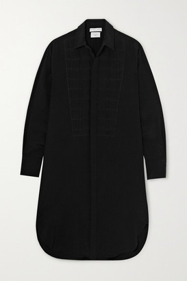 Bottega Veneta Quilted Silk Crepe De Chine Shirt Dress - Black