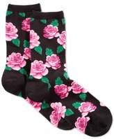 Hot Sox Women's Rose Print Socks