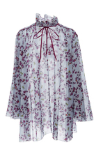 Giamba Tie Neck Floral Dress