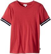 Splendid Littles Short Sleeve Tee with Stripe Trim Boy's T Shirt