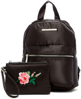 Steve Madden Mini Kris Backpack with Embroidered Flower Pouch