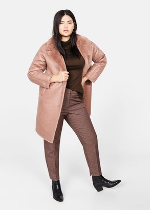 MANGO Violeta BY Cowl neck sweater chocolate - XS - Plus sizes
