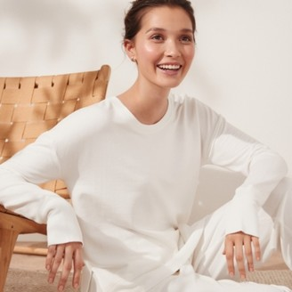 The White Company Side Split Crew-Neck Sweatshirt , Ivory, Extra Small