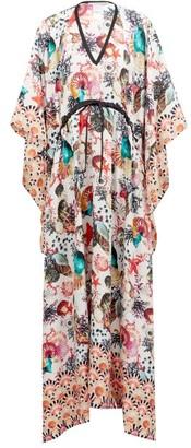 Mary Mare - St. Tropez Shell-print Silk Kaftan - Multi