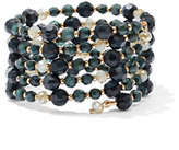 New York & Co. Multi-Row Beaded Coil Bracelet