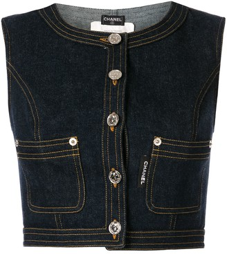 Chanel Pre-Owned cropped denim gilet