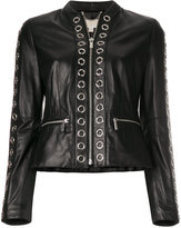 MICHAEL Michael Kors ring detail leather jacket