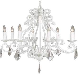Linea Verdace LV 50048/S/SBH E14 Barozzi S Pendant with 8 Lights, Silver Brushed Clear Crystal