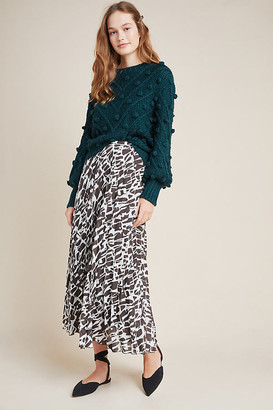 Maeve Hildi Pleated Midi Skirt By in Black Size XS