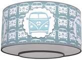 Taftan Ceiling Lampshade Little Van (35 cm, Grey/Blue)