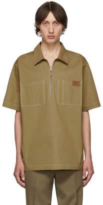 Burberry Tan Twill Street Short Sleeve Shirt