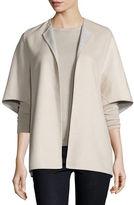 Neiman Marcus Double-Face Cashmere Cocoon Jacket