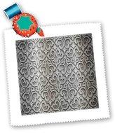 3dRose LLC qs_80649_2 Florene Designer Texture - Silver Metal Scallops - Quilt Squares