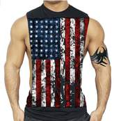 Interstate Apparel Inc American Flag Muscle Workout T-Shirt Bodybuilding Tank Top XS-3XL (XL, )