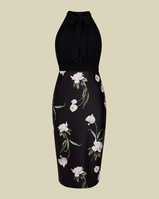 Ted Baker SABBIE Elderflower halterneck dress