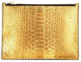 Tom Ford Metallic Python Zip Pouch