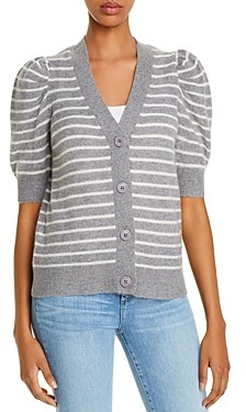 Bloomingdale's C by Cashmere Striped Cardigan - 100% Exclusive
