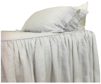 Superior Custom Linens Grey Striped Ticking Striped Bedspread, California King Bed Cover